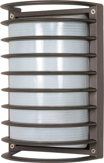 "NUVO Lighting 60/533 1 Light 10"" Rectangle Cage Die Cast Bulk Head"