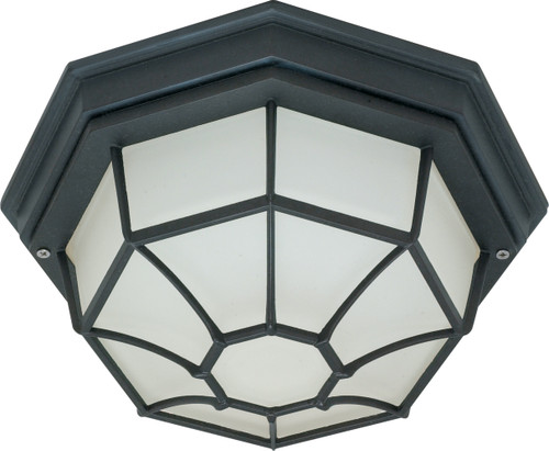 """NUVO Lighting 60/536 1 Light 12"""" Ceiling Spider Cage Fixture Die Cast, Glass Lens"""