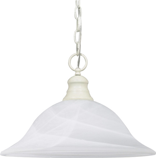 "NUVO Lighting 60/393 1 Light 16"" Pendant Alabaster Glass"