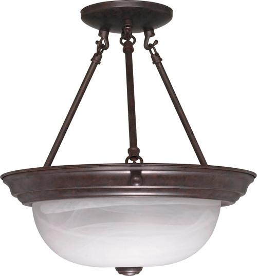 "NUVO Lighting 60/209 2 Light 13"" Semi Flushmount Alabaster Glass"