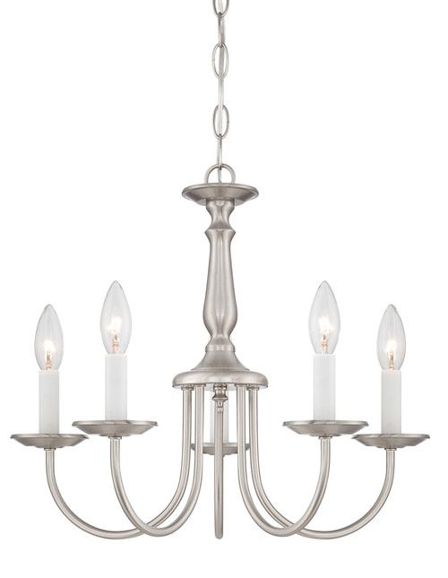 """NUVO Lighting 60/1298 5 Light 18"""" Chandelier with Candlesticks"""