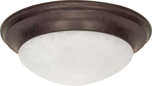 "NUVO Lighting 60/282 3 Light 17"" Flushmount Twist & Lock with Alabaster Glass"