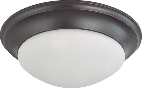 """NUVO Lighting 60/3177 3 Light 17"""" Flushmount Twist & Lock with Frosted White Glass"""