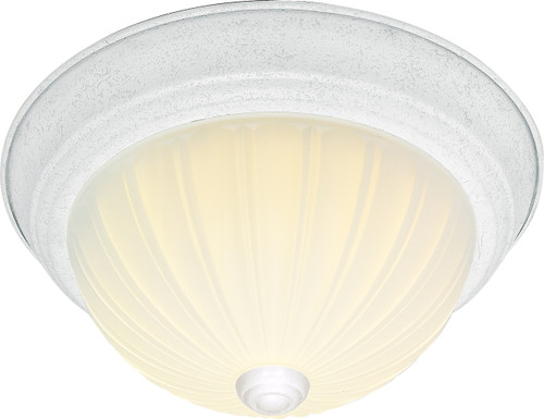 """NUVO Lighting 60/445 3 Light CFL 15"""" Flushmount Frosted Melon Glass (3) 13W GU24 (Bulbs Included)"""
