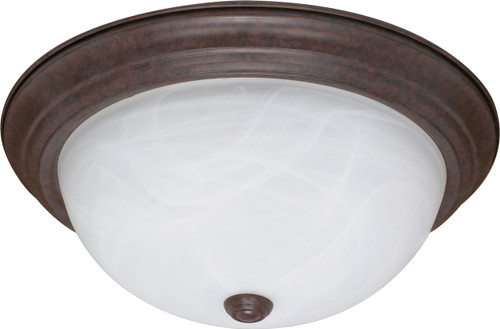 """NUVO Lighting 60/2627 3 Light ES 15"""" Flushmount Fixtue with Alabaster Glass (3) 13W GU24 (Bulbs Included)"""