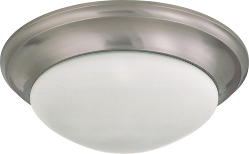 """NUVO Lighting 60/3273 3 Light 17"""" Flushmount Twist & Lock with Frosted White Glass"""