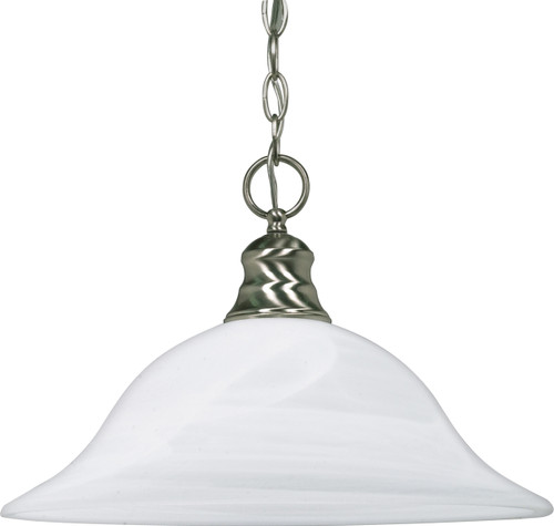 """NUVO Lighting 60/3198 1 Light 16"""" Pendant with Alabaster Glass (1) 18W GU24 (Bulb Included)"""