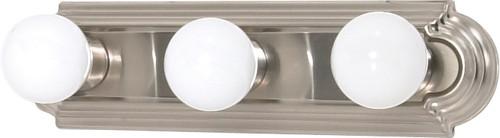 "NUVO Lighting 60/3301 3 Light 18"" Vanity Racetrack Style (3) 15W GU24 (Bulbs Included)"