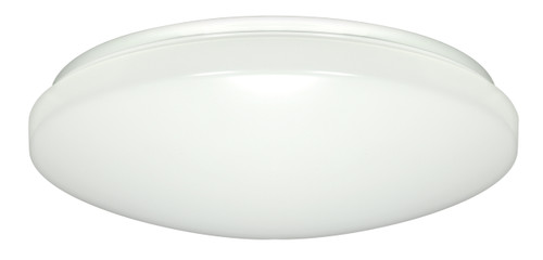 """NUVO Lighting 62/798 1-Light 14"""" Flushmounted LED Light Fixture White Finish 50 Percent Dimming 277V"""