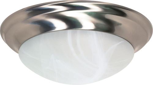 "NUVO Lighting 60/3203 3 Light 17"" Flushmount Twist & Lock with Alabaster Glass (3) 13W GU24 (Bulbs Included)"