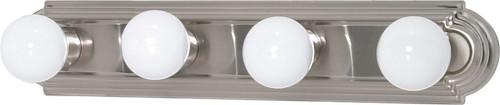 "NUVO Lighting 60/3302 4 Light 24"" Vanity Racetrack Style (4) 15W GU24 (Bulbs Included)"