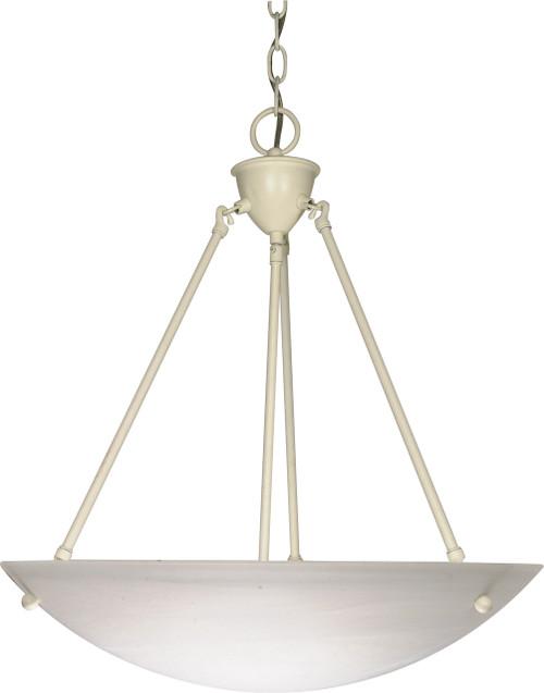 "NUVO Lighting 60/373 3 Light 23"" Pendant Alabaster Glass Bowl"