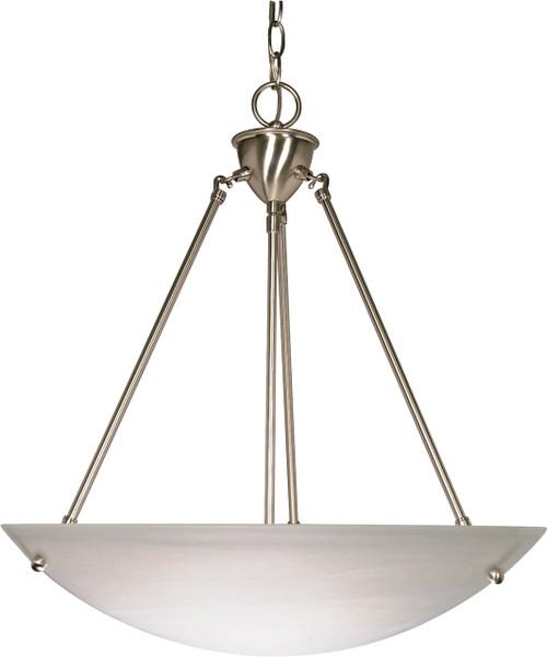 "NUVO Lighting 60/370 3 Light 23"" Pendant Alabaster Glass Bowl"