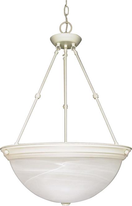 "NUVO Lighting 60/228 3 Light 20"" Pendant Alabaster Glass"