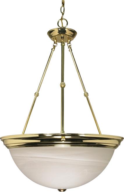 "NUVO Lighting 60/220 3 Light 20"" Pendant Alabaster Glass"