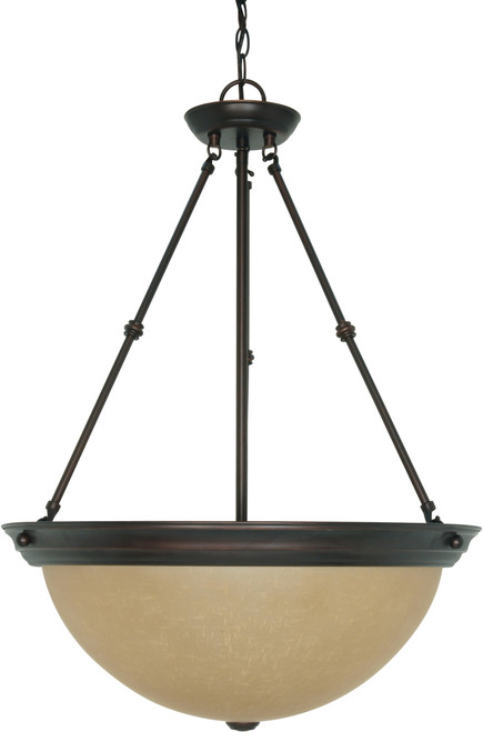 """NUVO Lighting 60/1263 3 Light 20"""" Pendant with Champagne Linen Washed Glass"""