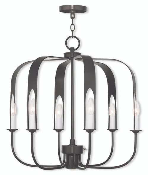 LIVEX Lighting 51936-92 Addison Contemporary Chandelier in English Bronze (7 Light)