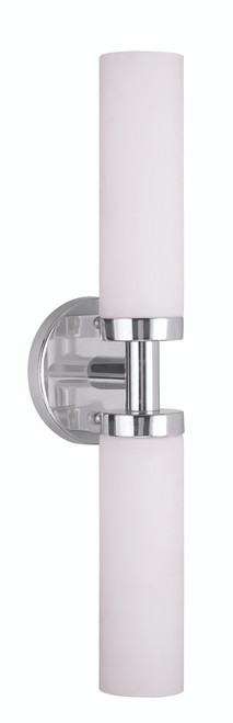 LIVEX Lighting 10104-05 Aero Contemporary Bath Light in Polished Chrome (2 Light)