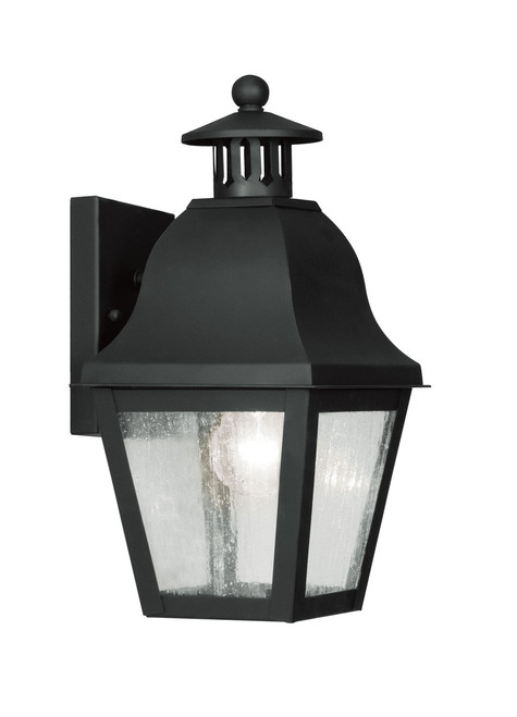LIVEX Lighting 2550-04 Amwell Outdoor Wall Lantern in Black (1 Light)