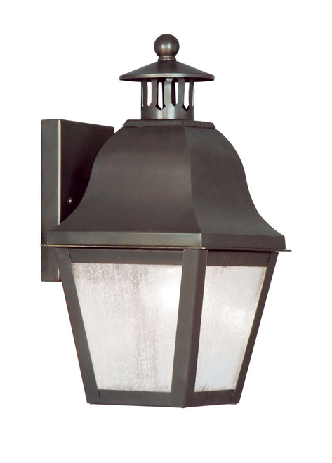 LIVEX Lighting 2550-07 Amwell Outdoor Wall Lantern in Bronze (1 Light)