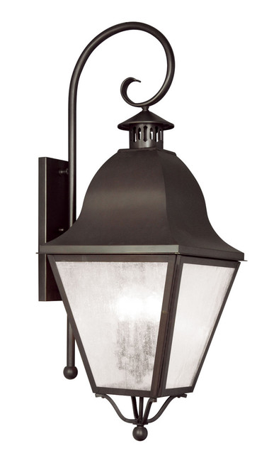 LIVEX Lighting 2558-07 Amwell Outdoor Wall Lantern in Bronze (4 Light)