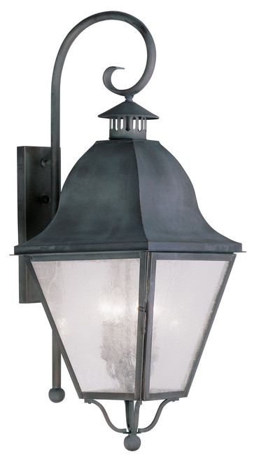 LIVEX Lighting 2558-61 Amwell Outdoor Wall Lantern in Charcoal (4 Light)