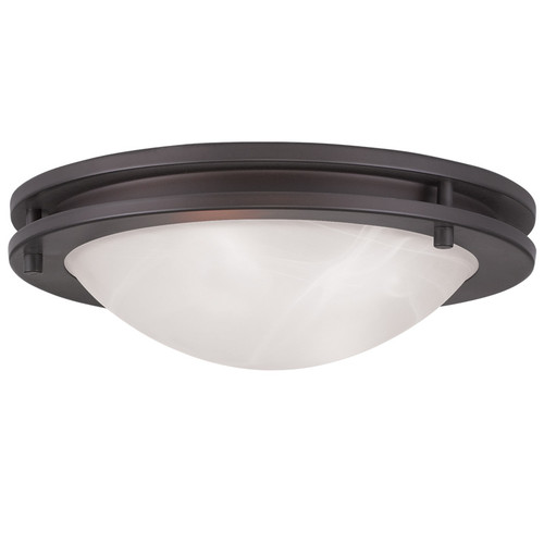 LIVEX Lighting 7057-07 Ariel Contemporary Flushmount in Bronze (2 Light)