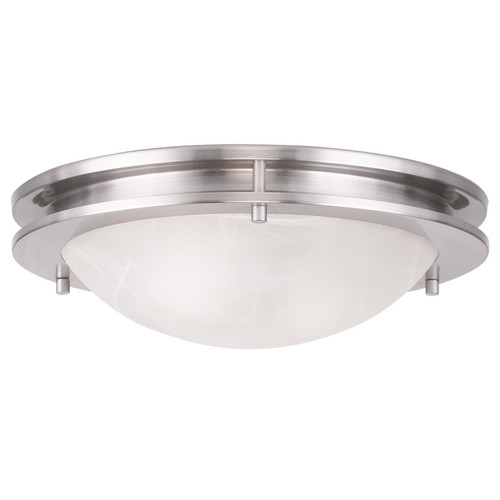 LIVEX Lighting 7058-91 Ariel Contemporary Flushmount in Brushed Nickel (2 Light)