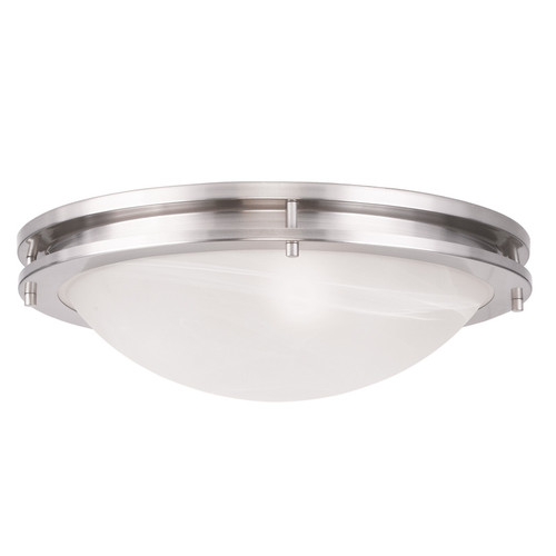 LIVEX Lighting 7059-91 Ariel Contemporary Flushmount in Brushed Nickel (3 Light)