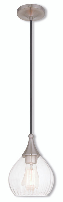 LIVEX Lighting 40601-91 Contemporary Mini Pendant in Brushed Nickel (1 Light)
