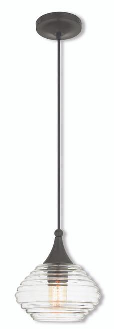 LIVEX Lighting 40610-92 Contemporary Mini Pendant in English Bronze (1 Light)