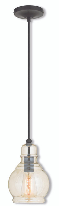 LIVEX Lighting 40618-92 Mini Pendant in English Bronze (1 Light)