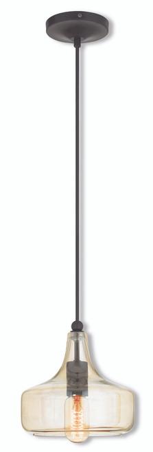 LIVEX Lighting 40619-92 Mini Pendant in English Bronze (1 Light)
