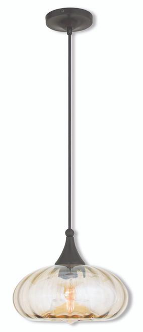 LIVEX Lighting 40617-92 Contemporary Mini Pendant in English Bronze (1 Light)