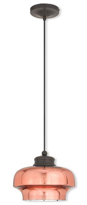 LIVEX Lighting 40631-92 Contemporary Mini Pendant in English Bronze (1 Light)