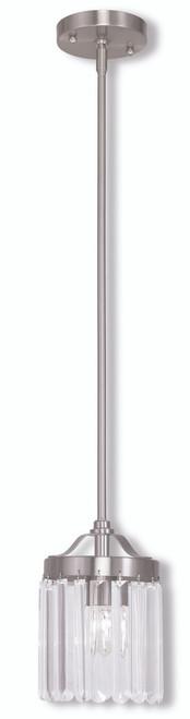 LIVEX Lighting 50530-91 Ashton Mini Pendant in Brushed Nickel (1 Light)