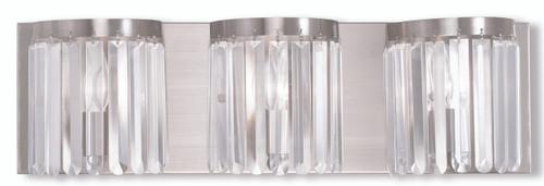 LIVEX Lighting 50533-91 Ashton ADA Bath Vanity in Brushed Nickel (3 Light)