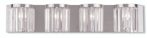 LIVEX Lighting 50534-91 Ashton ADA Bath Vanity in Brushed Nickel (4 Light)
