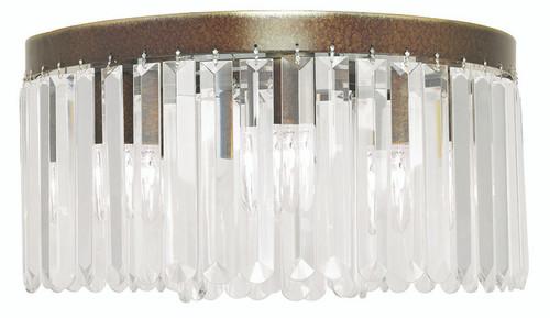 LIVEX Lighting 50554-64 Ashton Flushmount with Hand-Painted Palacial Bronze (5 Light)