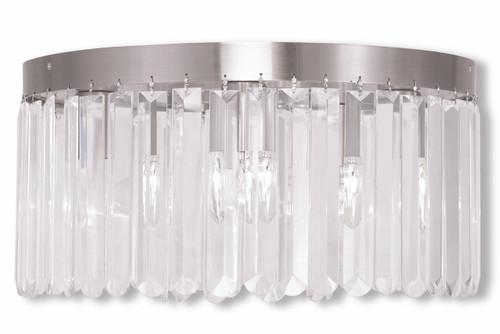 LIVEX Lighting 50554-91 Ashton Flushmount in Brushed Nickel (5 Light)