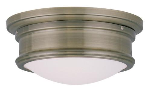 LIVEX Lighting 7341-01 Astor Flushmount in Antique Brass (2 Light)