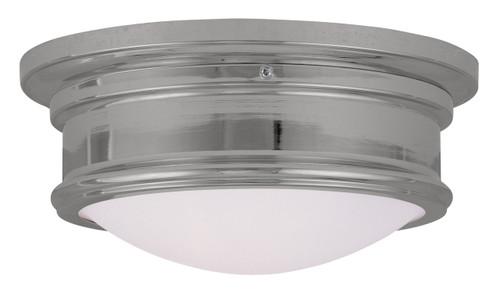 LIVEX Lighting 7341-05 Astor Flushmount in Polished Chrome (2 Light)