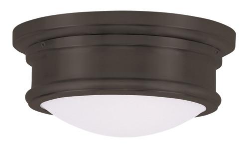 LIVEX Lighting 7341-07 Astor Flushmount in Bronze (2 Light)