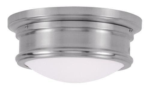 LIVEX Lighting 7341-91 Astor Flushmount in Brushed Nickel (2 Light)