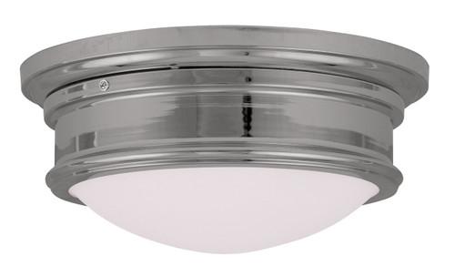 LIVEX Lighting 7342-05 Astor Flushmount in Polished Chrome (2 Light)