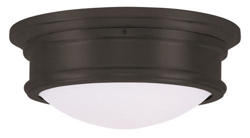 LIVEX Lighting 7342-07 Astor Flushmount in Bronze (2 Light)