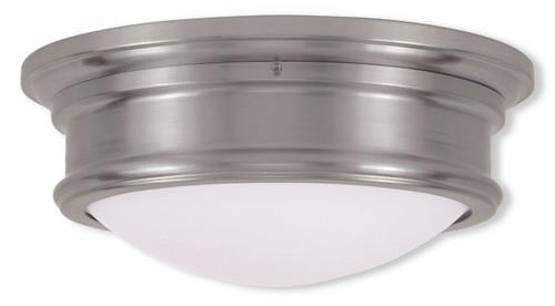 LIVEX Lighting 7342-91 Astor Flushmount in Brushed Nickel (2 Light)