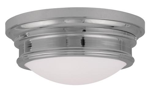 LIVEX Lighting 7343-05 Astor Flushmount in Polished Chrome (3 Light)