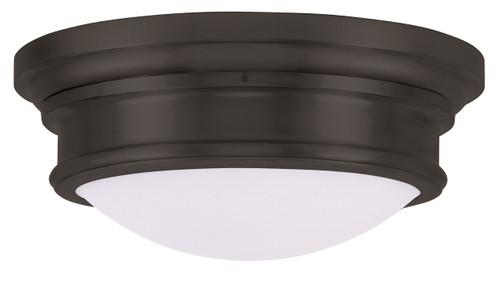 LIVEX Lighting 7343-07 Astor Flushmount in Bronze (3 Light)