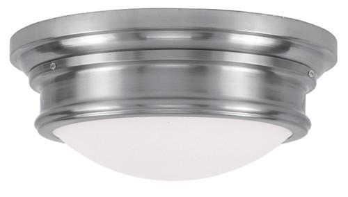 LIVEX Lighting 7343-91 Astor Flushmount in Brushed Nickel (3 Light)